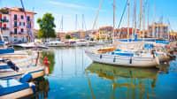 Der Hafen von Grado in Triest