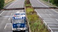 Die Autobahn A61 ist gesperrt