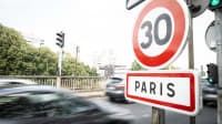 Zone 30 Schild in Paris