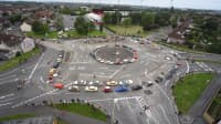Kreisverkehr Magic Roundabout in Swindon