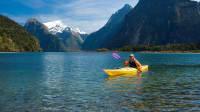 Kajaktour durch die Wasserlandschaft des Fiordland National Park