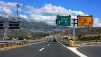 Die Autocesta von Zadar nach Zagreb