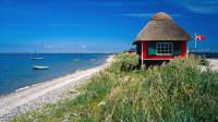 Strandhäuschen am Strand Eriks Hale bei Marstal auf der Insel Aero