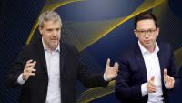 Grünen Politiker Dieter Janecek und SPD Politiker Falko Mohrs im Interviewformat