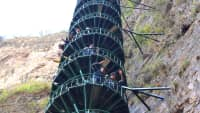 Treppe am Taihang Mountain in China