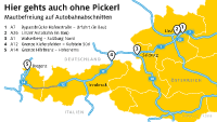 Osterreichische Autobahnen Mautfreie Abschnitte