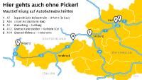 Maut in Österreich ohne Pickerl