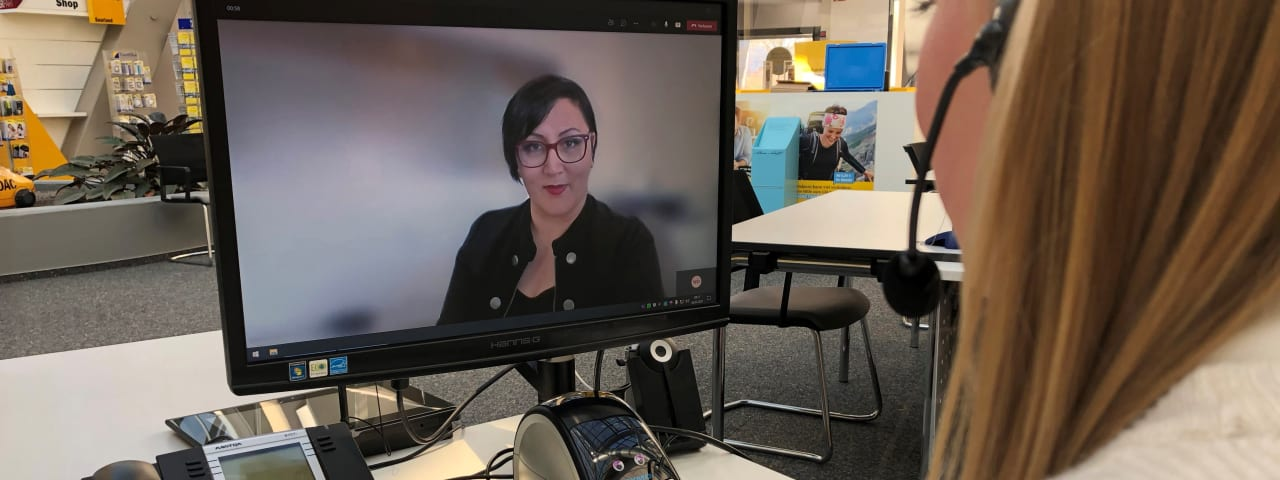 ADAC Saarland Videoberatung Chat Mitarbeiterin PC