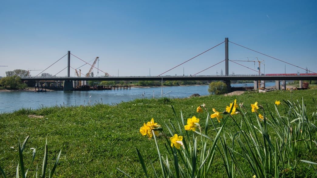 Die (alte) Leverkusener Brücke im Frühjahr 2020