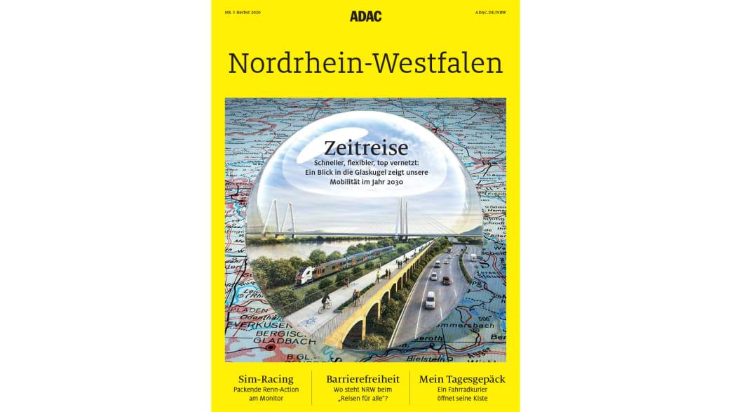 Das Cover des NRW-Regionalmagazins (Herbst-Ausgabe) der ADAC Motorwelt