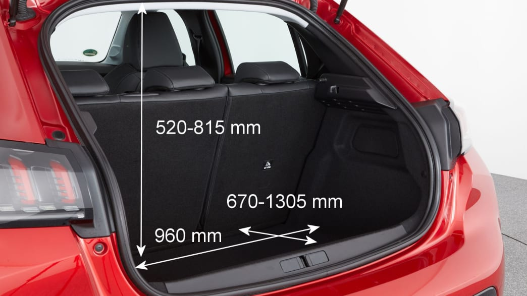 Kofferraum des Peugeot 208