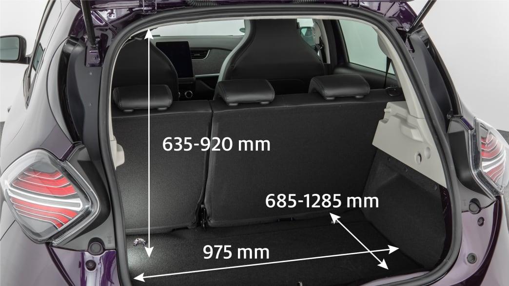 Kofferraum des Renault Zoe