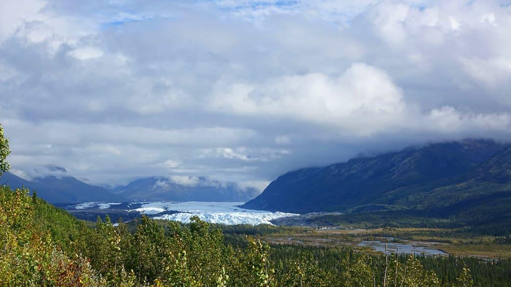 Der Matanuska-Gletscher nordwestlich von Anchorage