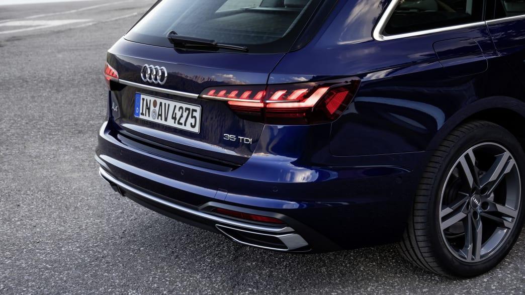 Heckansicht des Audi A4 Avant