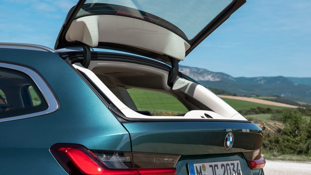 Die Heckscheiben-Kofferraum-Klapp vom BMW 3er Touring