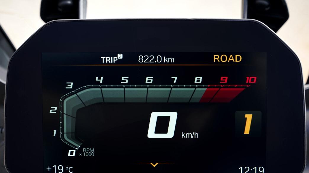 das  TFT-Display BMW F750 GS