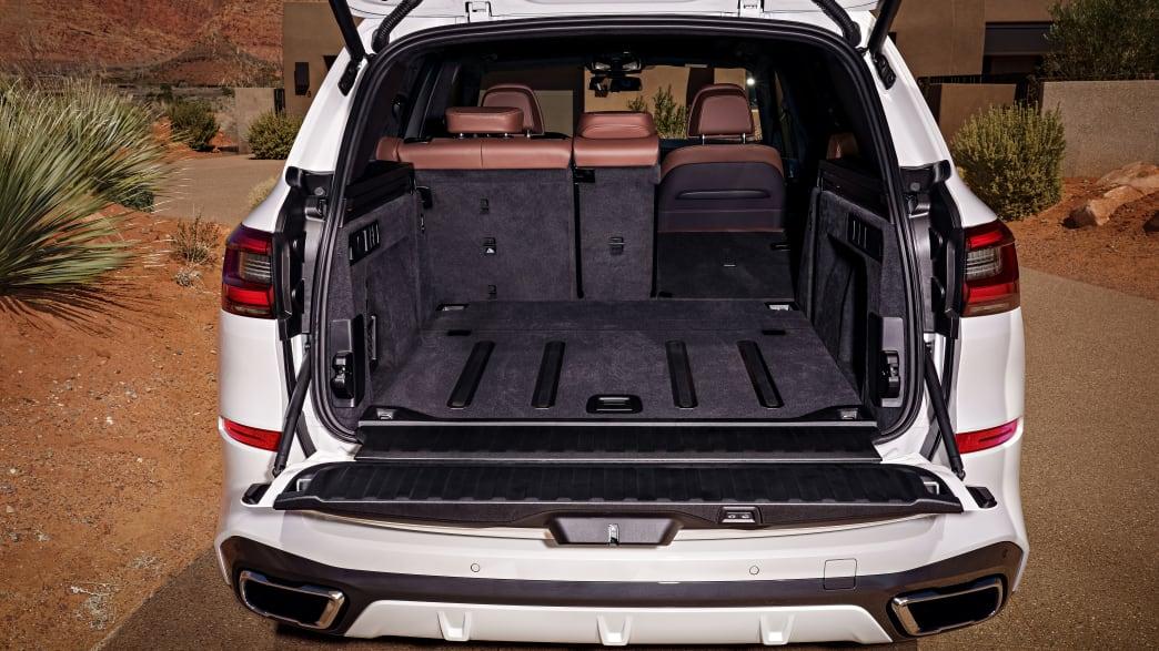 Blick in den Kofferraum des X5 BMWs von 2018