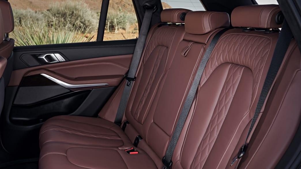 Rücksitze des BMW X5 Models von 2018