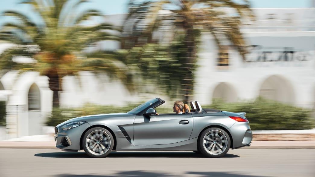 das BMW Z4 Model von 2018 von der Seite
