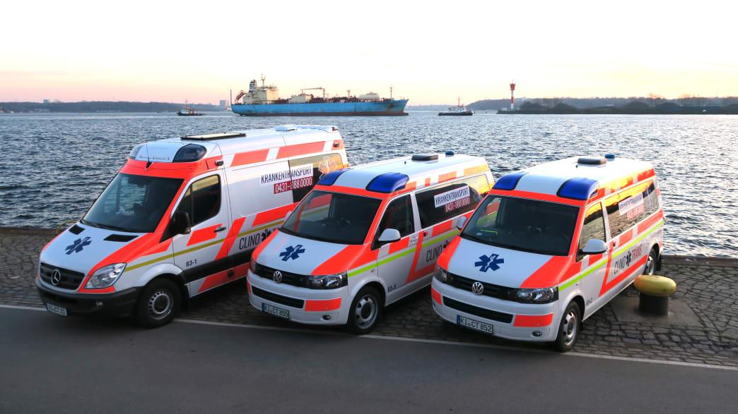 Rettungswagen von Clinotrans Ambulanz Service