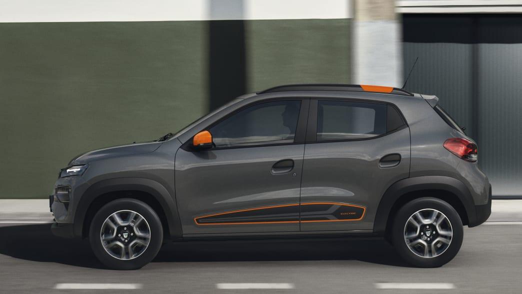 Seitenansicht des Dacia Spring Electric