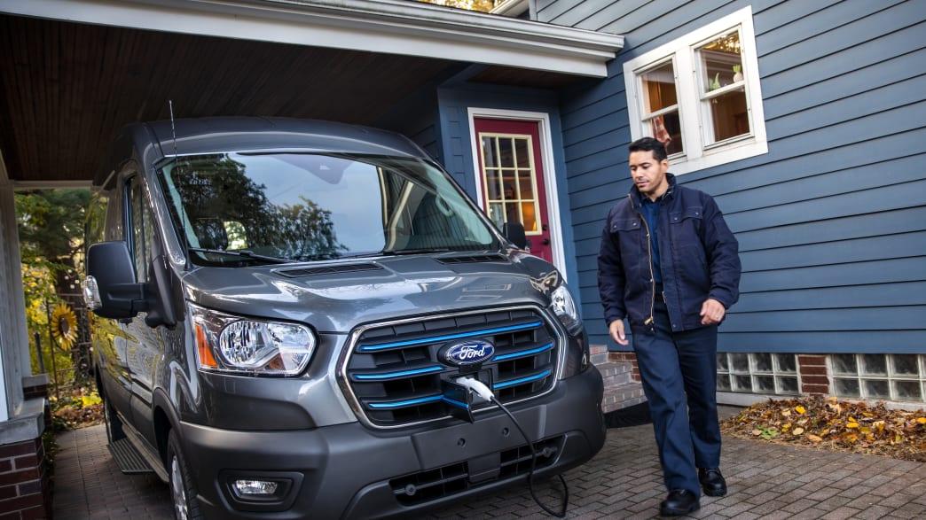 Der Elektrotransporter E-Transit von Ford
