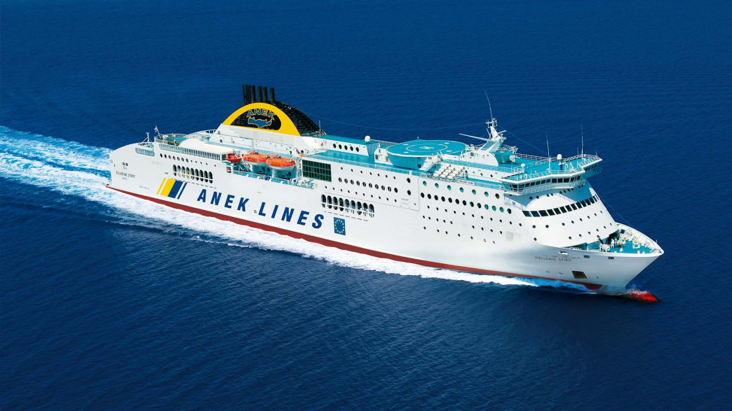 """die """"Hellenic Spirit""""-Fähre der ANEK Flotte"""