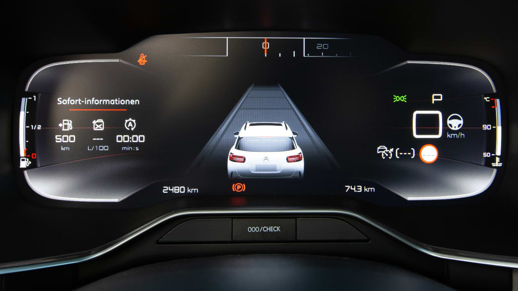 Display eines Citroen Aircross