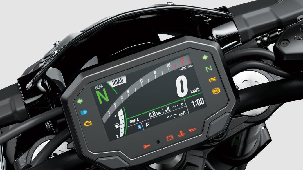 Display der Kawasaki Z900