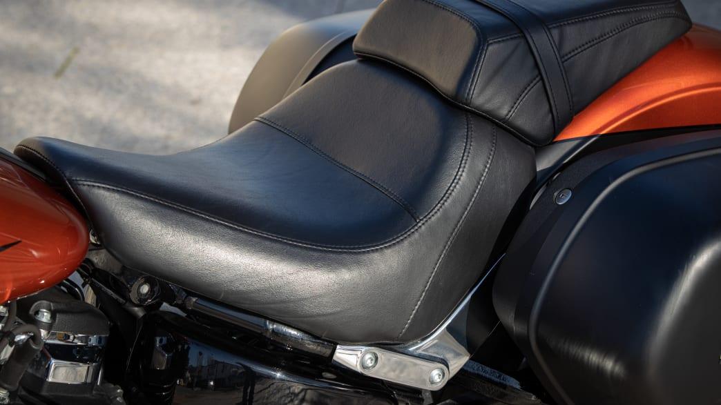 Die Sitzfläche einer Harley Davidson Sport Glide