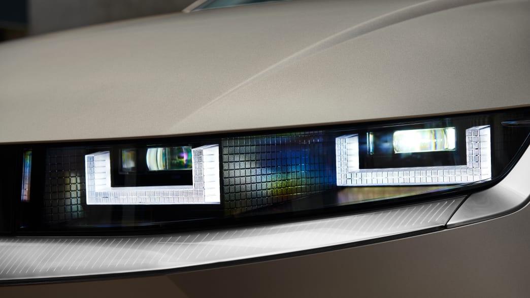 Scheinwerferdetail  des Hyundai Ioniq 5
