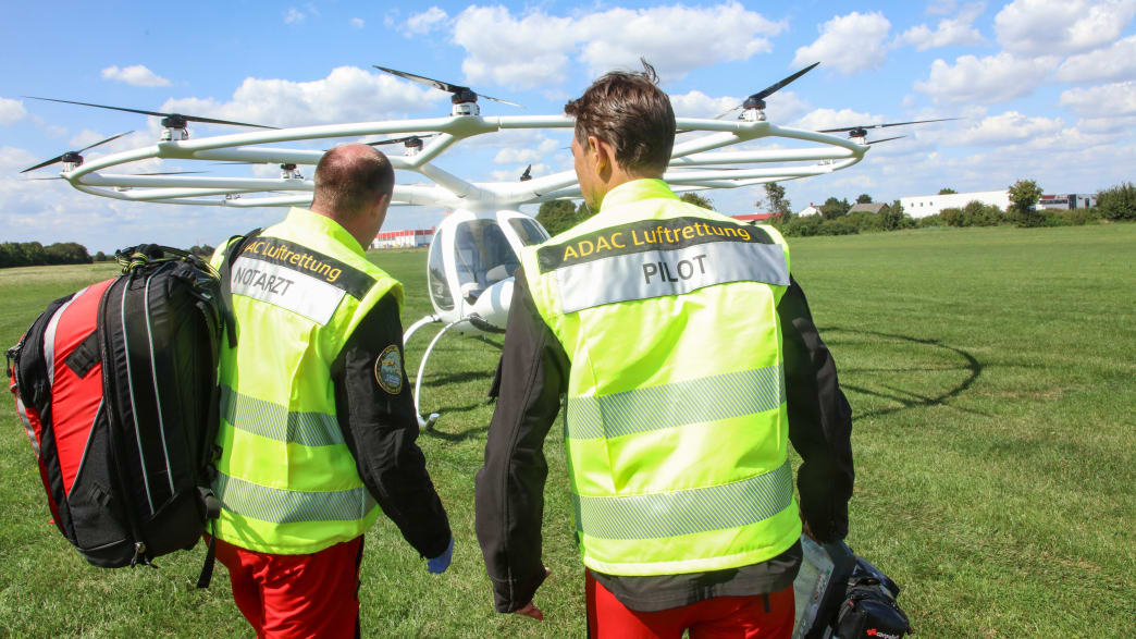 ADAC Piloten auf dem Weg zum Volocopter