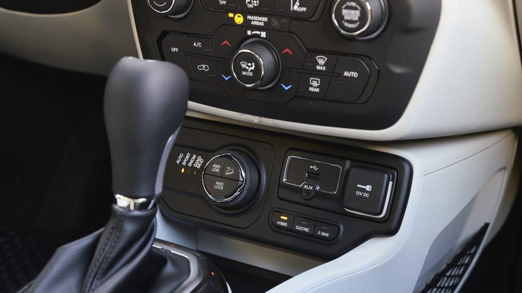 Schalthebel vom Jeep Renegade Plug-in Hybrid