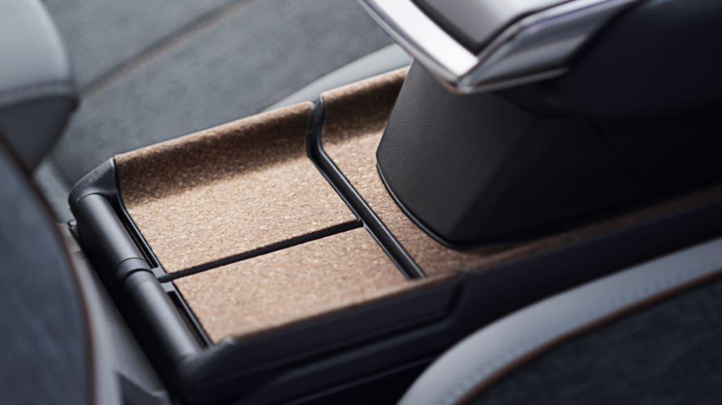 Detailansicht der Mittelkonsole des Mazda MX-30