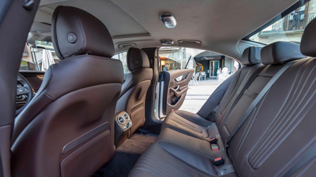 Innenraum eines Mercedes CLS 400 d Coupe