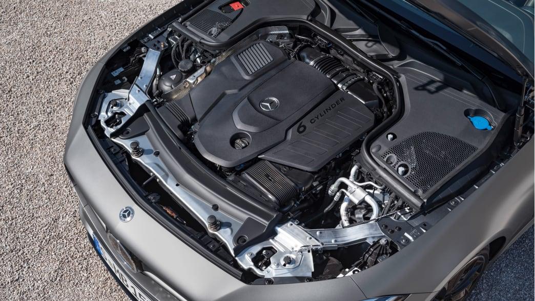 Motor eines Mercedes CLS 400 d Coupe