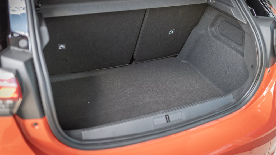 Kofferraum des Opel Corsa Elektro