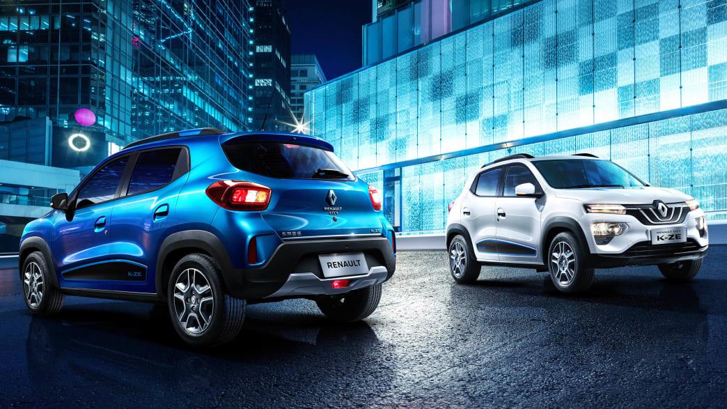 Front und Heck des Renault City K-ZE stehend