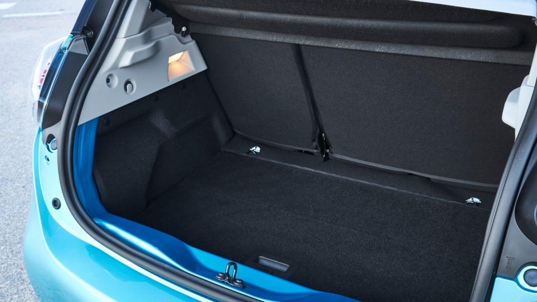 Kofferraum eines Renault Zoe