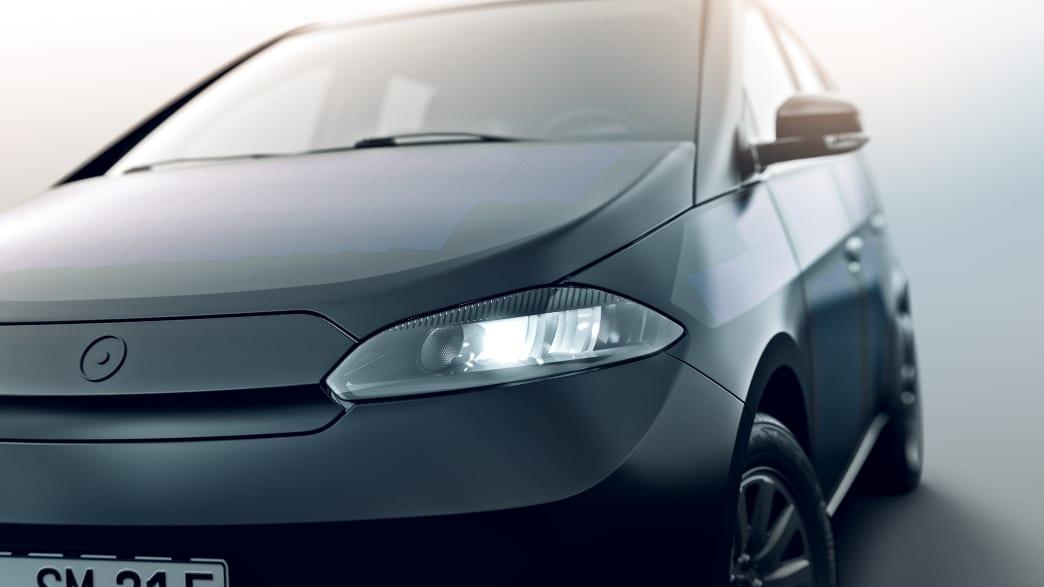 Nahaufnahme der Front des Sono Motors Sion