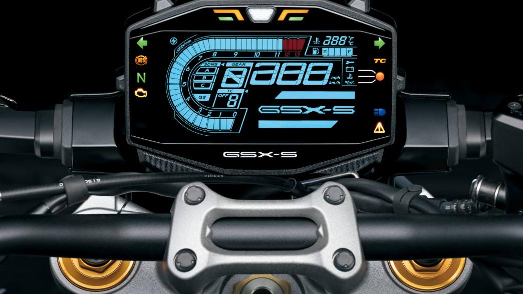 Display einer Suzuki GSX-S 1000