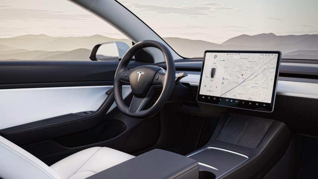 Cockpit des Tesla Model 3