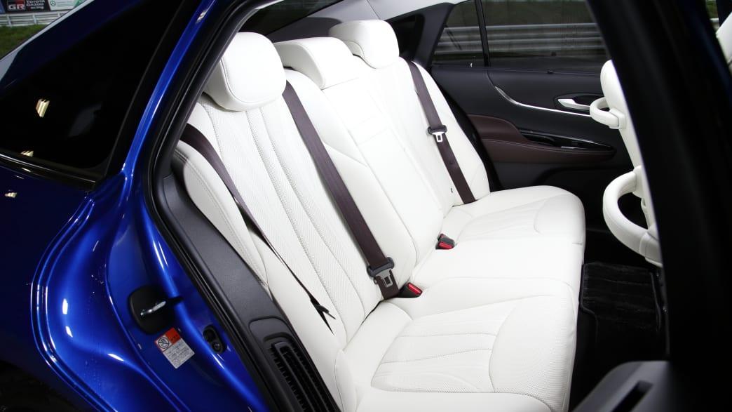 Das Wasserstoffauto Toyota Mirai von innen