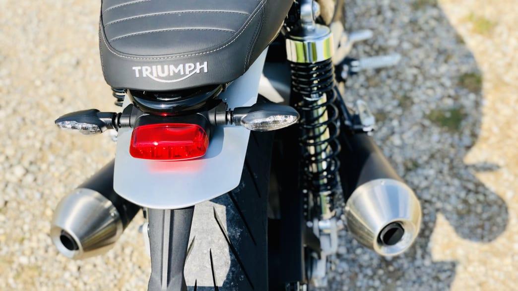der Rücksitz der Triumph Speed Twin