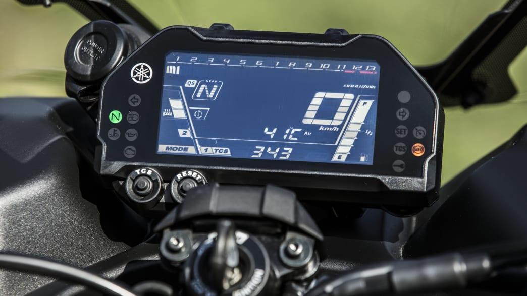 das Display der Yamaha Niken