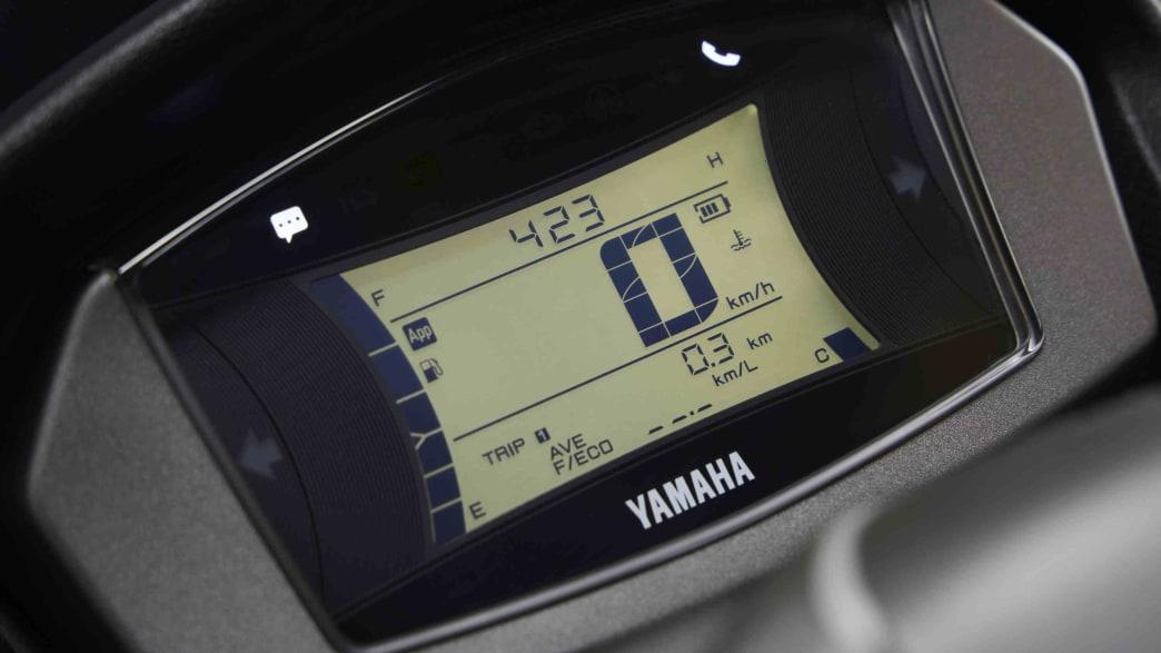 das Display der Yamaha NMAX 125