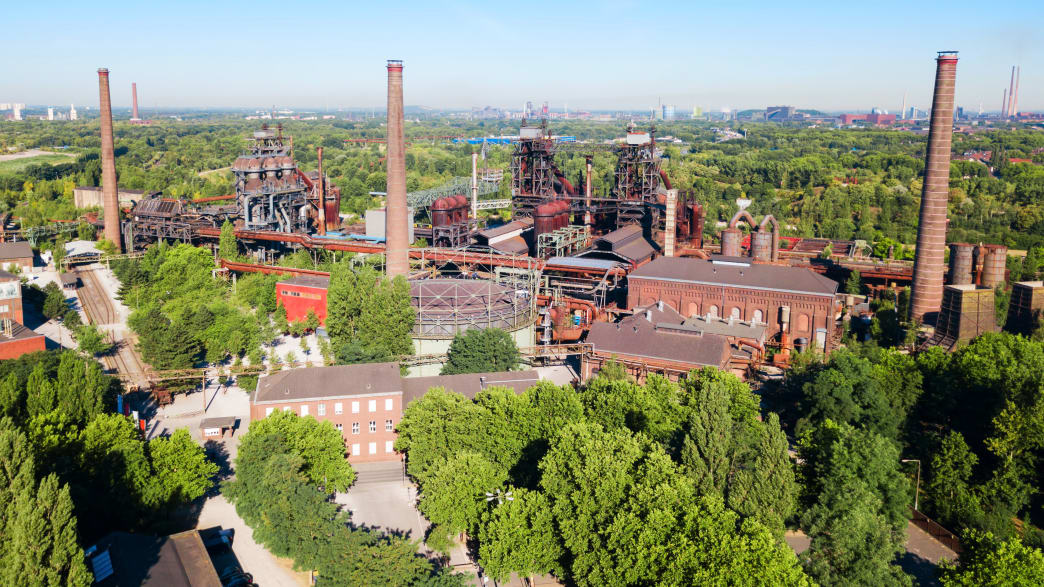 Blick auf den Landschaftspark Duisburg-Nord