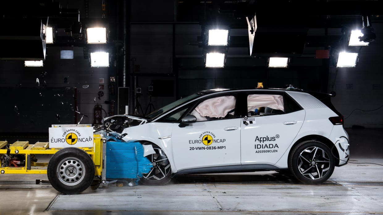 Frontaler Crashtestest vom VW ID3