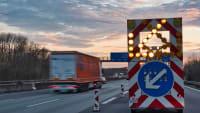 Sperrung einer Autobahnausfahrt