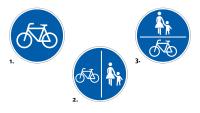 Verkehrszeichen Radfahrer